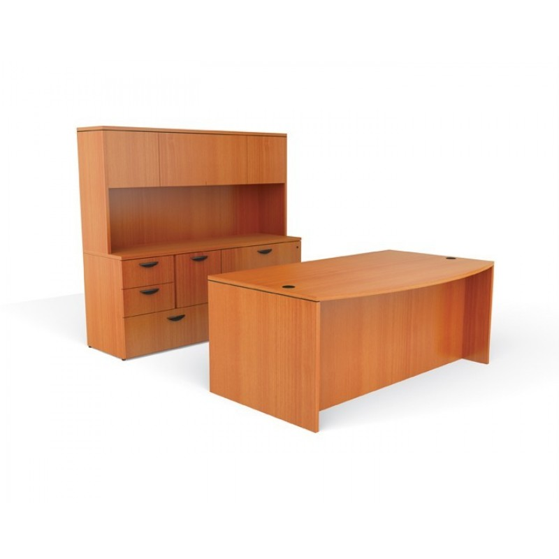 Office Furniture Desk Set With Credenza And Hutch