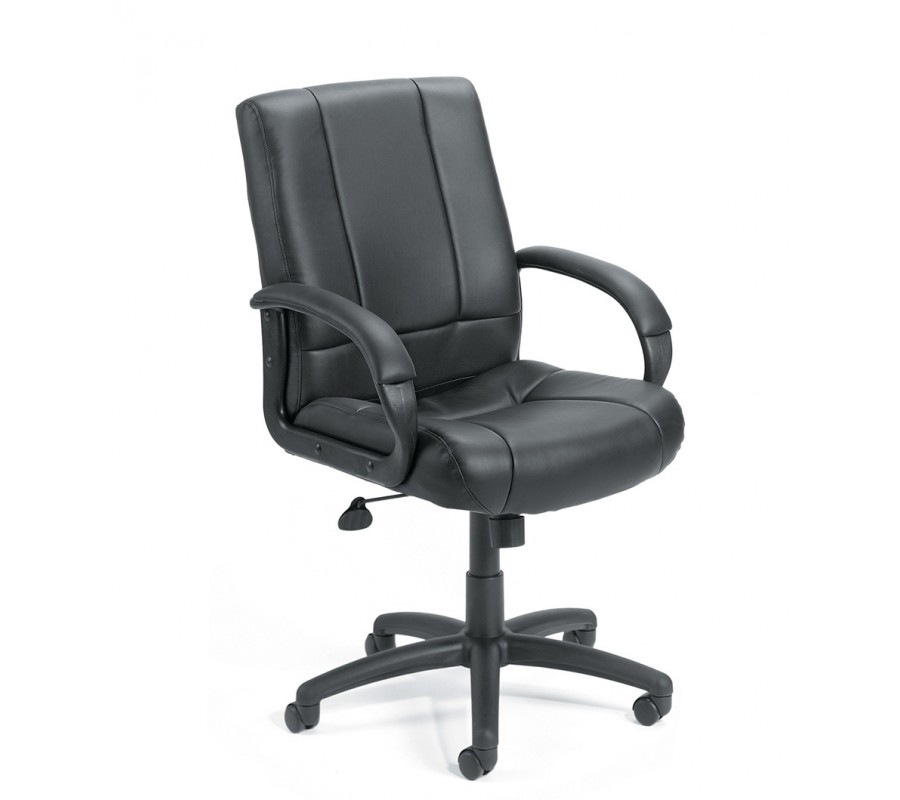 boss caressoft executive mid back office chair with extra lumbar support office chairs chairs. Black Bedroom Furniture Sets. Home Design Ideas